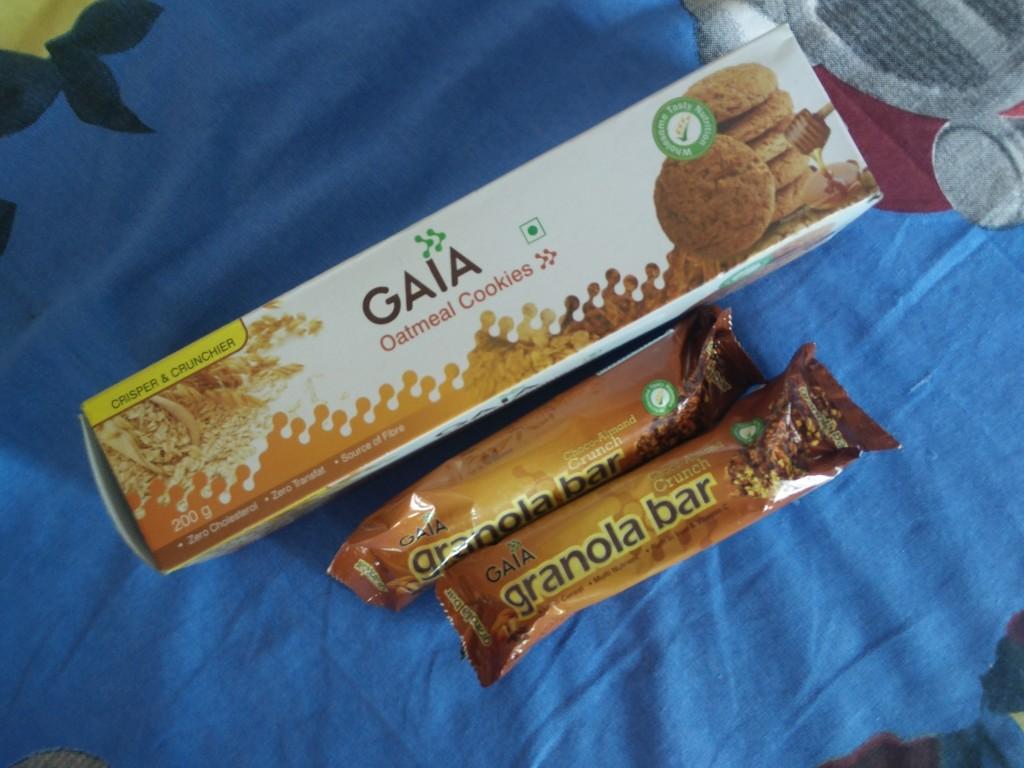 gaia good health oatmeal cookies and granola bars