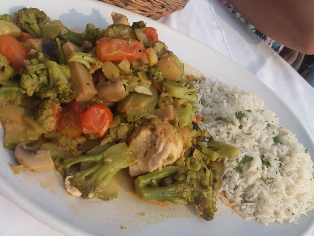 chicken saganaki thalassa