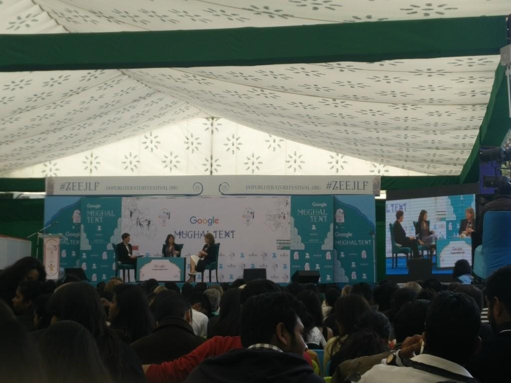 jaipur literature fest 2016 mughal tent writer hannah