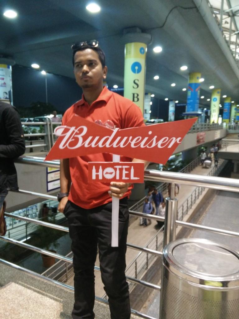budweiser sensation hyderabad 2016 pick up airport