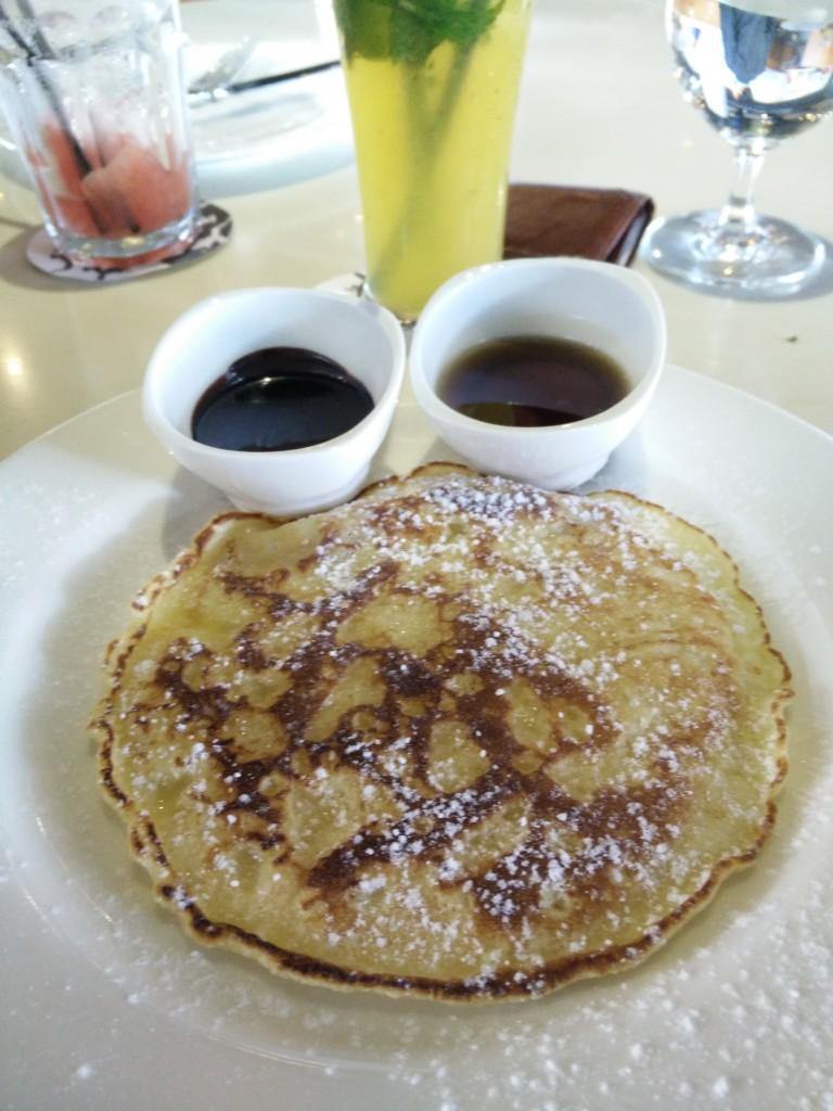 blue frog brunch pancake