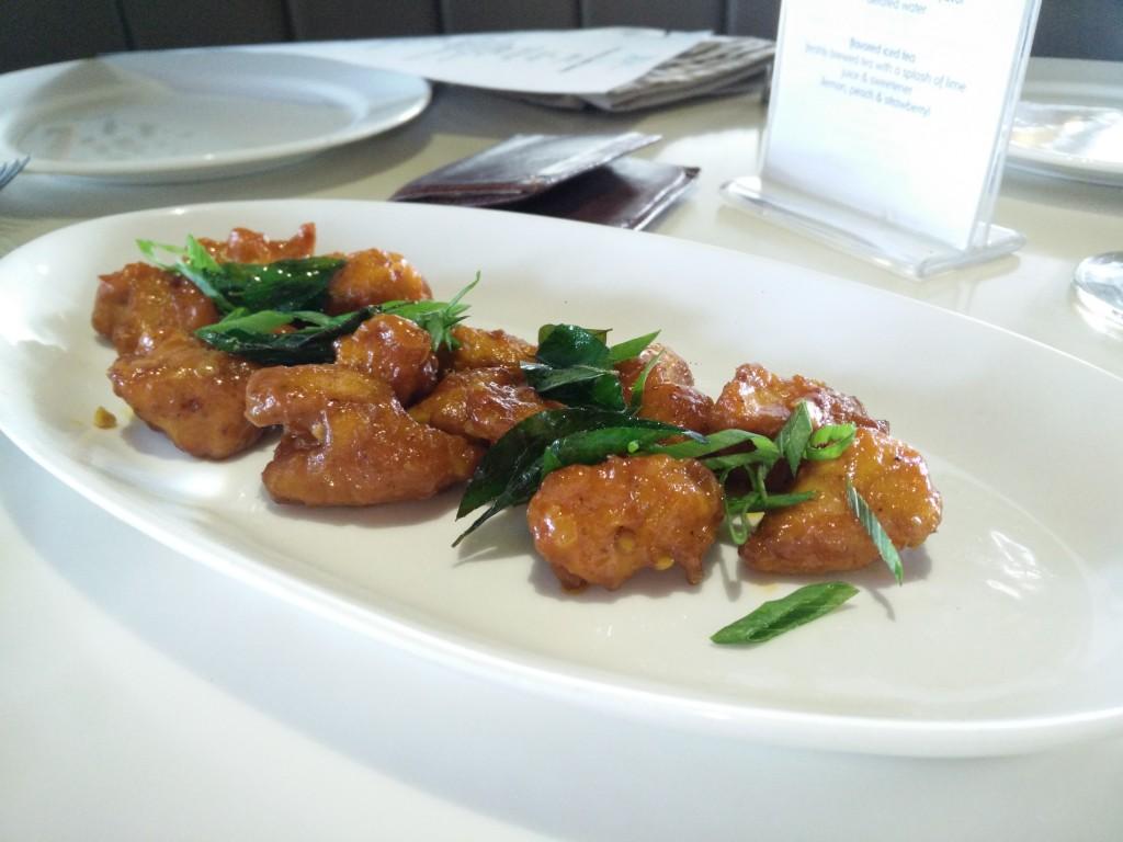 blue frog brunch starters chicken oriental style