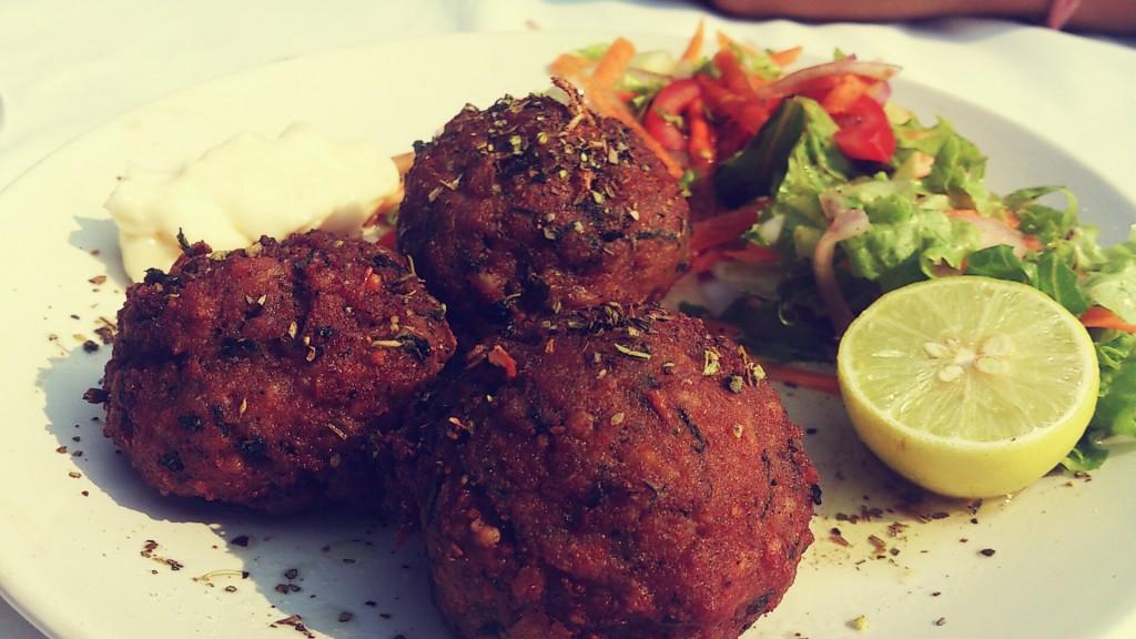 spicy calamari meatballs thalassa
