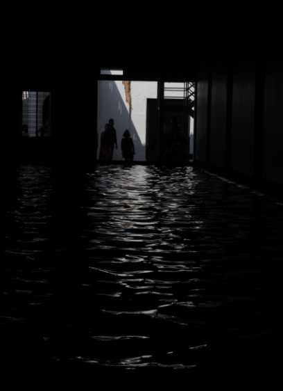 The Sea of Pain - a moving installation at Aspinwall