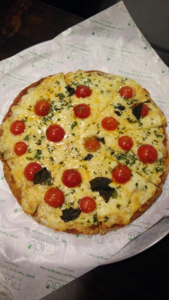 cauliflower whey protein pizza
